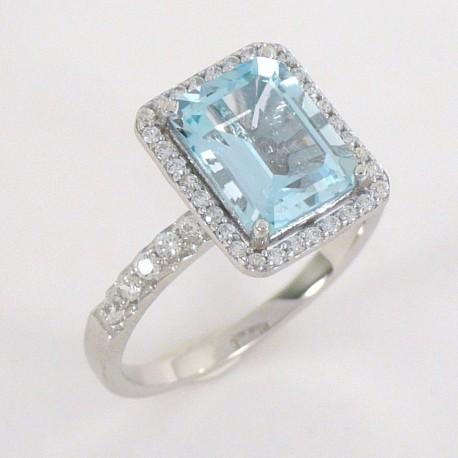 dc58f6ef4 Stříbrný prsten s topazem a zirkony - Šperky Sypo - zlaté a stříbrné šperky  - perly