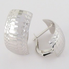 Stříbrné náušnice gravírované