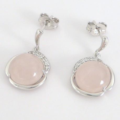 d2ac405fe Stříbrné náušnice s růženínem a zirkony - Šperky Sypo - zlaté a stříbrné  šperky - perly