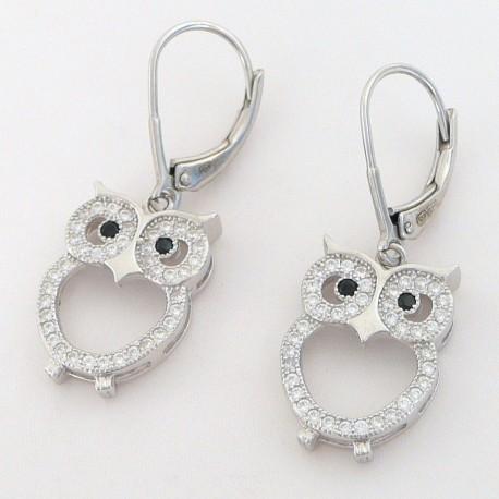 adc1afbe5 Stříbrné náušnice se zirkony sova - Šperky Sypo - zlaté a stříbrné šperky -  perly