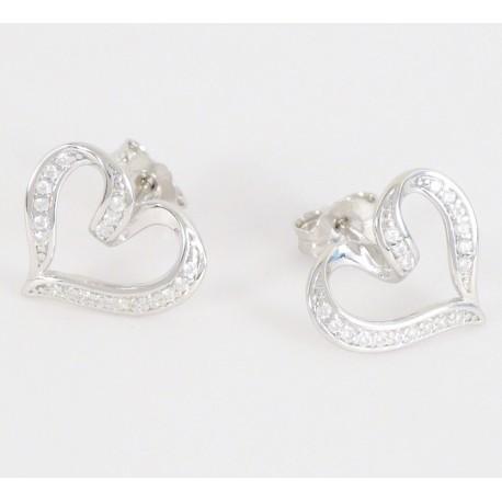 329f9d46a Stříbrné náušnice se zirkony srdce - Šperky Sypo - zlaté a stříbrné šperky  - perly