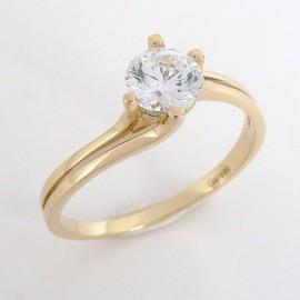 Zlaté zásnubní prsteny